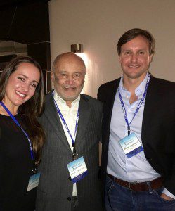 """Michael & Alexandra with legendary attorney William """"Billy"""" Murphy, Jr., a fellow guest speaker at the 2016 Trial Lawyers Summit."""